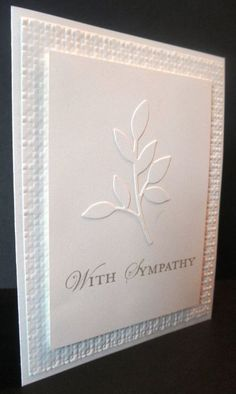 Simple White on White - square lattice embossing folder , little leaves sizzzix: