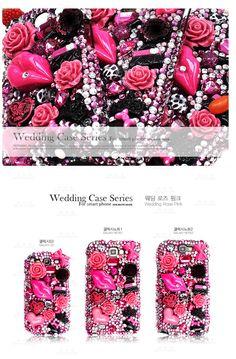 Wedding Cubic Phonecase. Style type  Wedding rose pink. 100% handmade.