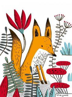 By Elise Gravel Source en Art And Illustration, Fuchs Illustration, Illustration Mignonne, Illustration Inspiration, Illustrations Posters, Art Fox, Fantastic Fox, Grafik Design, Illustrators