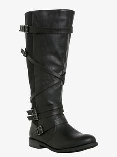 Strappy Riding Boots.