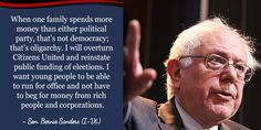 I want young people to be able to run for office and not have to beg for money from rich people and corporations.