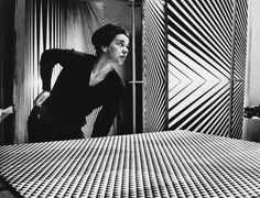 The Story of Bridget Riley: British Op Art painter Bridget Riley with some of her works.