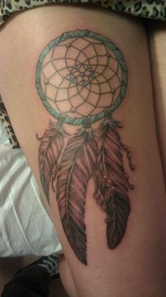 My next tattoo will be a dream catcher going down my left side, connected to the feather I have on my ribs.