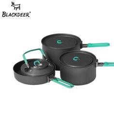 1PC Portable Single Pot Outdoor Camping Pot Picnic Middle Frying Pan Fry Pan