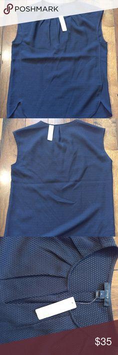 J. Crew sleeveless blouse Dark blue/Navy sleeveless blouse from J. Crew. J. Crew Tops Blouses