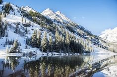 Summer snow on pine trees and the mountain side at the edge of Maroon Lake in the Maroon Bells, Aspen, Colorado. Snowy mountainside surrounding Maroon Lake in the Maroon Bells, Aspen, Colorado Wall Art by Circle Capture from Great BIG Canvas. Oversized Canvas Art, Big Canvas Art, Large Canvas Prints, Canvas Wall Art, Wall Art Prints, Mountain Sunset, Mountain Art, Unique Wall Art, Aspen Colorado