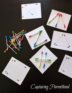 Cotton Swab Activities for Toddlers Preschool Activities At Home, Preschool Learning Activities, Toddler Activities, Shape Activities, Quiet Time Activities, Letter L Crafts, Critical Thinking Activities, Preschool Coloring Pages, Cotton Swab
