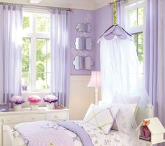 Purple & Butterflies Girls Room...one day Sam will have a beautiful room like this all to herself