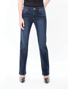 The Straight Leg Jeans:- A straight form hip to ankle. Not too baggy, not too tight. Its what we call the perfect mix. I Love Fashion, Womens Fashion, Working Woman, Plus Size Women, How To Look Better, Tights, Suits, Denim, Lady