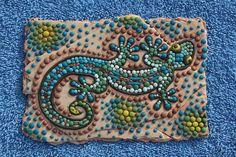 Book 5 Down Under, Aboriginal Art... gecko.