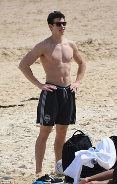 Shawn Mendes on the beach
