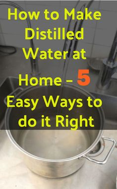 Survival Life Hacks, Survival Skills, Distilled Water Diy, Emergency Preparation, Emergency Food, Container Design, Natural Health Remedies, Do It Right, Helpful Hints