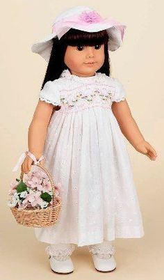 "White Eyelet Smocked Dress. COMPLETE OUTFIT with Shoes. Fits 18"" Dolls like American Girl® by Doll Factory, http://www.amazon.com/dp/B002MO7BFO/ref=cm_sw_r_pi_dp_YeJMpb14PZ9CP"