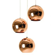 Copper Shade Lamp designed and manufactured by Tom Dixon. Made of pure copper