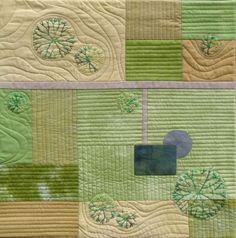 Rural Landscape - Art Quilt Wall Hanging
