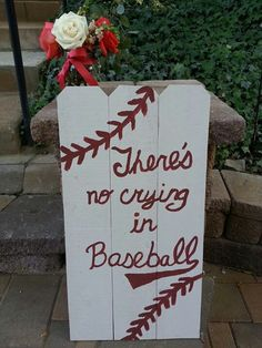 Vintage Baseball Wedding There's no crying in baseball sign.......I can make any signs for wedding or reception , if you want any