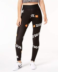 huge selection of c896e 8fb7d Nike Sportswear Just Do It High-Rise Ankle Leggings   Reviews - Pants    Capris - Women - Macy s