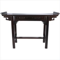 Oriental Furniture Qing Hall Table in Rosewood - ST-PJ100