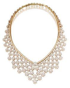 18 Karat Gold and Diamond 'Valenciennes' Necklace, Van Cleef & Arpels, Circa 1985