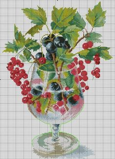 123 Cross Stitch, Cross Stitch Fruit, Cross Stitch Kitchen, Cross Stitch Heart, Cross Stitch Borders, Cross Stitch Flowers, Cross Stitch Designs, Cross Stitching, Cross Stitch Patterns