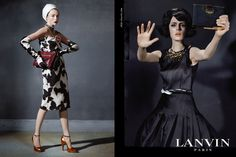 Lanvin Fall  Campaign  starring Edie Campbell