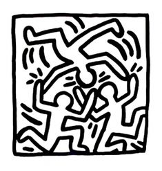 Keith haring free to color for children - Keith Haring Coloring Pages for Kids - Just Color Kids : Coloring Pages for Children Pattern Coloring Pages, Coloring Pages To Print, Printable Coloring Pages, Coloring Pages For Kids, Kids Coloring, Toulouse, Art History Projects For Kids, Keith Haring Art, Graffiti Murals