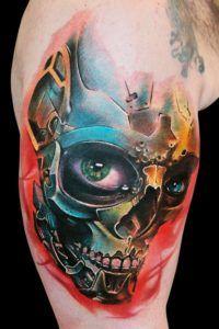 skull tattoos color