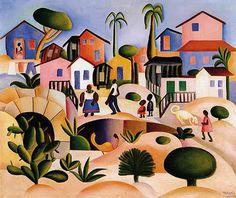 Tarsila do Amaral  (Brazilian, 1886 -1973) - Morro da Favela, 1924