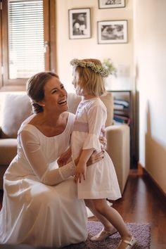 cristina con vestido de novia de fabio encinar