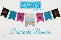 Frozen Inspired Printable Banner by Bakingdom