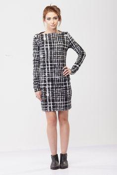 Short Dresses – Black and white Unique Dress – a unique product by…