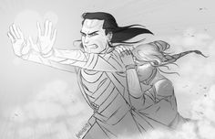 (Loki x Sigyn) - I'm not sure what's going on here, but I'm going to assume that he's protecting her from something.
