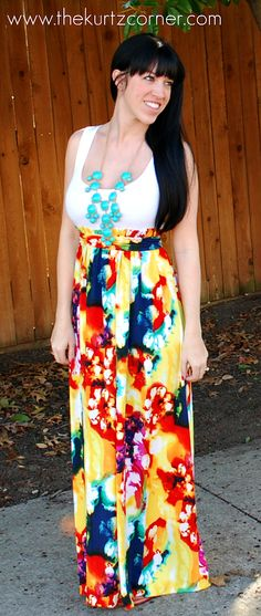 DIY maxi dress with tutorial! I need to make this!