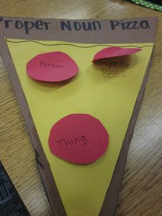 Cute project to review proper nouns.  Might be a good project for right before…