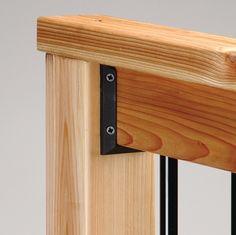deckorail railing connector installed on wood deck