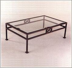 """4074  IRON TABLE W 36"""" L 48"""" HT 18"""""""