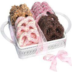 Pretzels.....Cute Mothers Day Idea