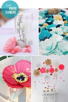 Taiteile paperikukkasista kauneimmat koristeet. #koriste #juhlakoriste #juhla