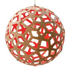 Coral Red Taklampa | David Trubridge | Länna Möbler | Handla online