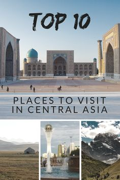 Top places to see in Central Asia Places To Travel, Places To See, Travel Destinations, Travel Around The World, Around The Worlds, Tens Place, Central Asia, Africa Travel, Travel Couple