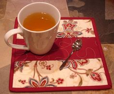 quilted mug rugs | Quilted Mug Rugs | Coffee, Tea, and Serving Things