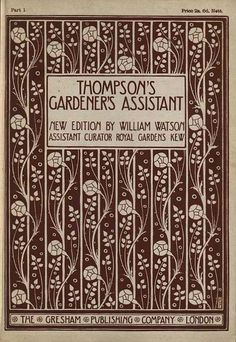 Talwin Morris paper cover for monthly subscrition edition of Blackie,s Thomson's Gardeders's Assistand c 1902
