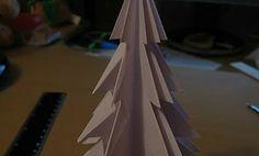 albero di natale di carta