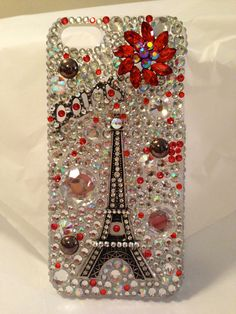 Eiffel Tower  iPhone 5 phone case by BlingOnByShelley on Etsy