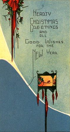 .love the font on these old Christmas cards...