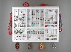 White Jewelry Organizer Display for my teen