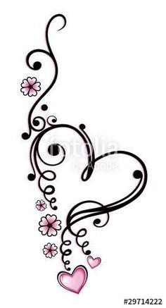 Zwart, roze vector series, Valentijnsdag photo - Tattos Tattoos And Body Art heart tattoo designs Future Tattoos, Love Tattoos, Beautiful Tattoos, Body Art Tattoos, New Tattoos, Small Tattoos, Tatoos, Tribal Foot Tattoos, Tattoos For Daughters