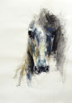 "- For Hayden Saatchi Online Artist: Benedicte Gele; Pastel, Drawing ""Alerte V"" Pastel Drawing, Painting & Drawing, Horse Head Drawing, Art Amour, Art Watercolor, Inspiration Art, Equine Art, Urban Art, Amazing Art"