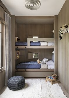 Ideas For Fun Children's Bunk Beds - Bunk Bed Design - lmolnar - Best Design and Decoration You Need Bunk Beds For Boys Room, Bunk Bed Rooms, Bunk Beds Built In, Modern Bunk Beds, Bunk Beds With Stairs, Custom Bunk Beds, Modern Kids Bedroom, Bedroom Small, Kid Beds