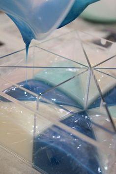 石鹸の表面を平らにする方法  新潟 手作り石鹸の作り方教室 アロマセラピーのやさしい時間